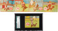 Baseball Cards:Lots, 1943 R302 M.P. & Co. DiMaggio & Four-Card Uncut Strip With Williams. ...