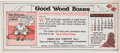"Baseball Collectibles:Others, 1921 Treen Box Company ""Good Wood Boxes"" Babe Ruth Blotter/CalendarCard. ..."