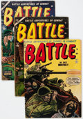 Golden Age (1938-1955):War, Battle Group of 6 (Marvel, 1952-55) Condition: Average GD/VG.... (Total: 6 Comic Books)