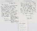 Autographs:Celebrities, [Featured Lot]. [Charles Lindbergh]. [Aviation and Space Travel].White House Menu Card Signed by NASA Dinner Guests. Dated ...