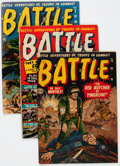 Golden Age (1938-1955):War, Battle #1, 8, and 10 Group (Marvel, 1951-52) Condition: Average GD/VG.... (Total: 3 Comic Books)
