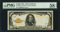 Small Size:Gold Certificates, Fr. 2408 $1,000 1928 Gold Certificate. PMG Choice About Uncirculated 58 EPQ.. ...