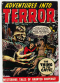 Golden Age (1938-1955):Horror, Adventures Into Terror #43 (#1) (Atlas, 1950) Condition: GD....