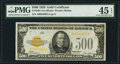 Small Size:Gold Certificates, Fr. 2407 $500 1928 Gold Certificate. PMG Choice Extremely Fine 45 EPQ.. ...