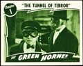 "Movie Posters:Serial, The Green Hornet (Universal, 1940). Lobby Card (11"" X 14"") Chapter1 -- The Tunnel of Terror."". ..."