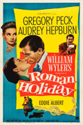"Movie Posters:Romance, Roman Holiday (Paramount, 1953). One Sheet (27.25"" X 41"").. ..."