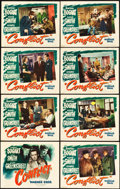 """Movie Posters:Film Noir, Conflict (Warner Brothers, 1945). Lobby Card Set of 8 (11"""" X 14"""")..... (Total: 8 Items)"""