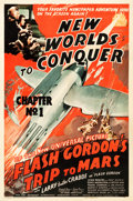 """Movie Posters:Serial, Flash Gordon's Trip to Mars (Universal, 1938). One Sheet (27"""" X41""""). Chapter 1 --""""New Worlds to Conquer."""". ..."""