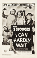 "Movie Posters:Comedy, The Three Stooges in I Can Hardly Wait (Columbia, 1943). One Sheet (27"" X 41.25"").. ..."