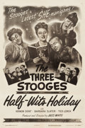 "Movie Posters:Comedy, The Three Stooges in Half-Wits Holiday (Columbia, 1947). One Sheet(27"" X 41"").. ..."