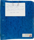 Football Collectibles:Others, 1985 Mike Ditka Super Bowl XX Personal Playbook....