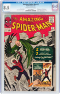 Silver Age (1956-1969):Superhero, The Amazing Spider-Man #2 (Marvel, 1963) CGC VF+ 8.5 Off-white towhite pages....