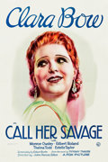 "Movie Posters:Drama, Call Her Savage (Fox, 1932). One Sheet (27.25"" X 41"").. ..."