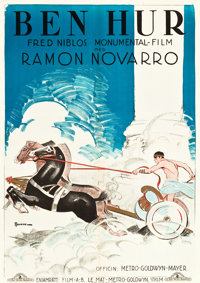 "Ben-Hur (MGM, 1925). Swedish One Sheet (27.5"" X 39.5"")"