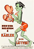 "Movie Posters:Comedy, Battling Butler (MGM, 1926). Swedish One Sheet (27.5"" X 39.5"")....."