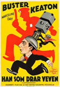 "Movie Posters:Comedy, The Cameraman (MGM, 1928). Swedish One Sheet (27.5"" X 39.5"").. ..."