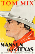 "Movie Posters:Western, The Man from Texas (Continental Film, R-1925). Swedish One Sheet (22.5"" X 35"").. ..."
