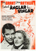 "Movie Posters:Drama, Only Angels Have Wings (Columbia, 1940). Swedish One Sheet (27.5"" X39.5""). Drama.. ..."
