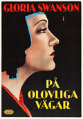 "Movie Posters:Drama, The Trespasser (United Artists, 1929). Swedish One Sheet (27.5"" X39.5"").. ..."