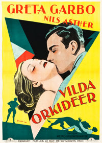 "Wild Orchids (MGM, 1929). Swedish One Sheet (27.5"" X 39.5"")"