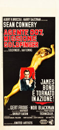 "Movie Posters:James Bond, Goldfinger (United Artists, 1964). Italian Locandina (13"" X 28.25"").. ..."