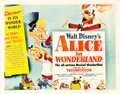 "Movie Posters:Animation, Alice in Wonderland (RKO, 1951). Half Sheet (22"" X 28"") Style A. ..."