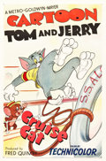 "Movie Posters:Animated, Cruise Cat (MGM, 1952). One Sheet (27"" X 41"").. ..."