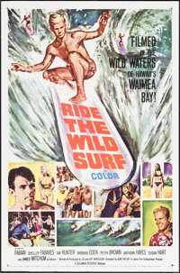 """Ride the Wild Surf (Columbia, 1964). One Sheet (27"""" X 41""""). Sports"""