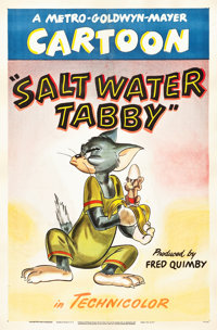 "Salt Water Tabby (MGM, 1947). One Sheet (27.25"" X 41"")"