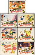 "Movie Posters:Animation, Saludos Amigos (RKO, 1942). Title Lobby Card and Lobby Cards (6)(11"" X 14"").. ... (Total: 7 Items)"