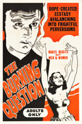 "Movie Posters:Exploitation, The Burning Question (Motion Picture Ventures, R-1940s). One Sheet(28"" X 42""). Alternate Titles: Reefer Madness andT..."