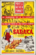 "Movie Posters:Adventure, Sabaka & Other Lot (United Artists, 1955). One Sheets (2) (27""X 41""). Adventure.. ... (Total: 2 Items)"