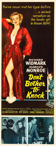 "Movie Posters:Film Noir, Don't Bother to Knock (20th Century Fox, 1952). Insert (14"" X36"").. ..."