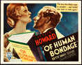 "Movie Posters:Drama, Of Human Bondage (RKO, 1934). Title Lobby Card (11"" X 14"").. ..."