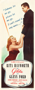 "Movie Posters:Film Noir, Gilda (Columbia, 1946). Insert (14"" X 36"").. ..."