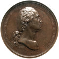 Washingtonia, (1790) Washington Before Boston Medal MS63 Brown NGC. Baker-47B, Betts-542, Julian MI-1b....