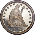 Proof Seated Quarters, 1886 25C PR67+ Cameo NGC....