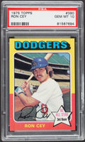 Baseball Cards:Singles (1970-Now), 1975 Topps Ron Cey #390 PSA Gem Mint 10....