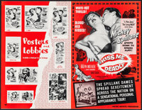 "Kiss Me Deadly & Others Lot (United Artists, 1955). Uncut Pressbooks (45) (Multiple Pages, approx, 11"" X 17..."