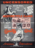 """Movie Posters:Exploitation, Motorcycle Gang/Sorority Girl Combo & Others Lot (AmericanInternational, 1957). Uncut Pressbooks (7) (Multiple Pages, 11""""X... (Total: 7 Items)"""