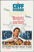 "Movie Posters:Rock and Roll, Wonderful To Be Young (Paramount, 1961). One Sheet (27"" X 41"") andLobby Cards (3) (11"" X 14""). Rock and Roll.. ... (Total: 4 Items)"