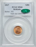 Commemorative Gold, 1917 G$1 McKinley MS66 PCGS. CAC....
