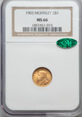 Commemorative Gold, 1903 G$1 Louisiana Purchase, McKinley, MS66 NGC. CAC....