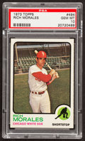 Baseball Cards:Singles (1970-Now), 1973 Topps Rich Morales #494 PSA Gem Mint 10 - Pop Two....