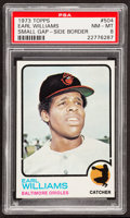 Baseball Cards:Singles (1970-Now), 1973 Topps Earl Williams, Small Gap-Side Border #504 PSA NM-MT8....