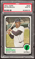 Baseball Cards:Singles (1970-Now), 1973 Topps Gates Brown #508 PSA Mint 9....