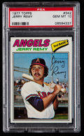 Baseball Cards:Singles (1970-Now), 1977 Topps Jerry Remy #342 PSA Gem Mint 10....