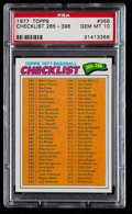 Baseball Cards:Singles (1970-Now), 1977 Topps Checklist 265-396 #356 PSA Gem Mint 10 - Pop Two. ...