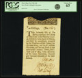 Colonial Notes:New York, Colony of New York May 31, 1709 10 Shillings (a) Fr. NY-2. PCGSChoice New 63.. ...