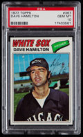Baseball Cards:Singles (1970-Now), 1977 Topps Dave Hamilton #367 PSA Gem Mint 10 - Pop Four. ...